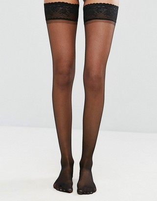 ASOS DESIGN 15 denier lace top stockings