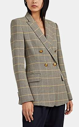 A.L.C. Women's Sedgwick Glen Plaid Double-Breasted Blazer - Green