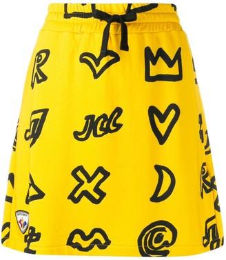 Rossignol Scribbled Symbol Cotton Blend Skirt