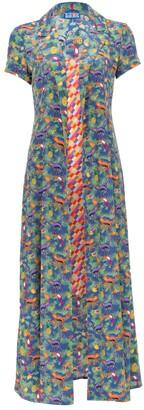 Lhd LHD careyes quirky print and bright checks marlin dress