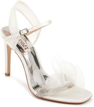 Badgley Mischka Jessica Embellished Tulle Sandal
