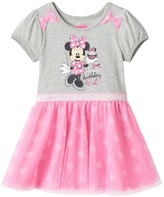 "Disney Disney's Minnie Mouse Girls 4-6x ""Sweet Birthday Girl"" Glitter Tulle Dress"