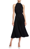 A.L.C. Renzo High-Neck Pleated Asymmetrical Cocktail Dress