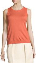 See by Chloe Round-Neck Sleeveless Shell, Salmon