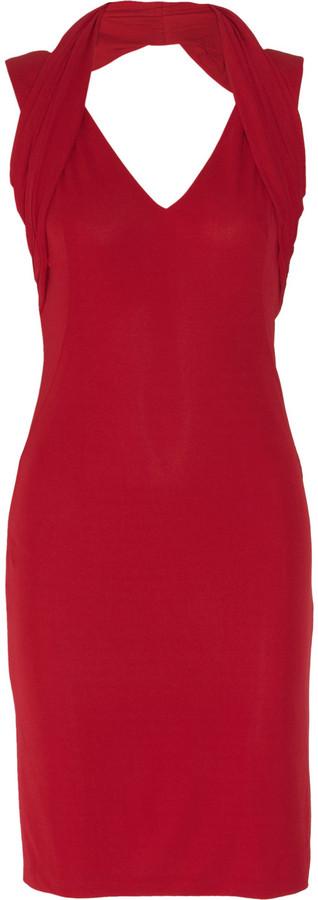 Alexander McQueen Stretch-crepe halterneck dress