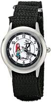 Disney Kids' W000453 Jack and Sally Stainless Steel Time Teacher Nylon Strap Watch