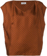 Alberto Biani V-neck spot blouse - women - Silk - 42