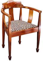 One Kings Lane Vintage English Barrel-Back Chair