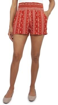BeBop Juniors' Smocked-Waist Soft Shorts