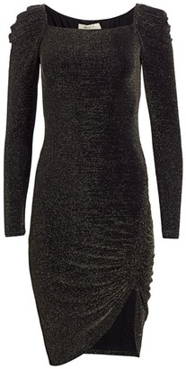 Bailey 44 Ariana Puff-Sleeve Sparkle Jersey Dress