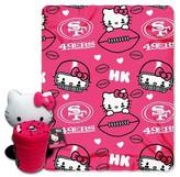 Hello Kitty NFL 49Ers Blanket and Hugger Bundle (40 x 50)
