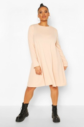 boohoo Plus Jumbo Rib Swing Dress