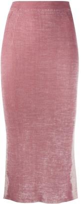 Diesel Rear Slit Knitted Dress
