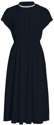 Fabiana Filippi Brilliant Trim Midi Dress