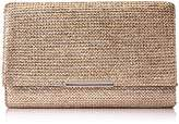 Jessica McClintock Nora Painted Straw Envelope Clutch