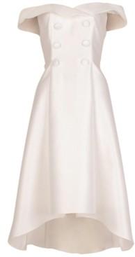 Adrianna Papell Mikado Tuxedo Dress