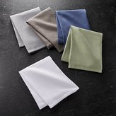 Crate & Barrel Set of 5 Salsa Solid Neutral Dish Towels
