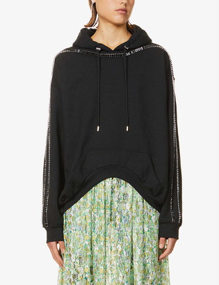 Collina Strada Sporty Spice embellished cotton-blend hoody