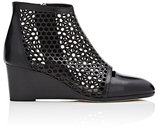 Zero Maria Cornejo Women's Laser-Cut Ophellis Wedge Boots-BLACK