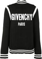 Givenchy Logo Varsity Knit Cardigan