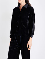 Armani Collezioni Oversized velvet shirt