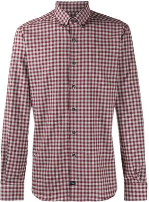 Fay check button-down shirt