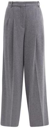 Joseph Tima Wool-blend Wide-leg Trousers - Grey