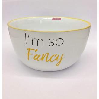 "Mug Me I'm Famous 6"" 20 Ounce Ceramic Soup/Cereal Bowls""Im so Fancy"" Bowl"