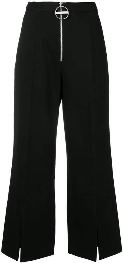 Givenchy slit cuff wide leg trousers