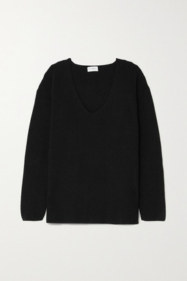 Ernest Leoty Eloise Ribbed Merino Wool And Cashmere-blend Sweater - Black