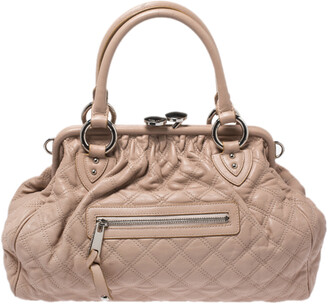 Marc Jacobs Pink Quilted Leather Stam Satchel