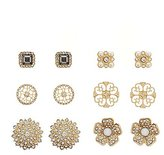 Charlotte Russe Embelished Stud Earrings -6 Pack
