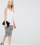 Asos Midi Skirt in Leopard Print