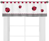 JoJo Designs Sweet Polka Dot Ladybug Window Valance- Red-Black-White