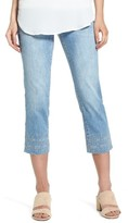 Jag Jeans Women's Baker Pull-On Embroidered Crop Jeans