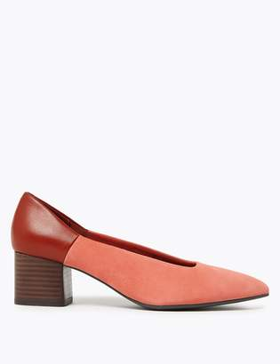 M&S CollectionMarks and Spencer Suede Colour Block Court Shoes