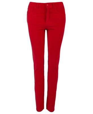 BOSS Savelvia Velvet Trousers Colour: BRIGHT RED, Size: 10