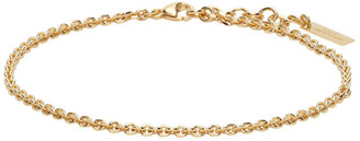 Saint Laurent Gold Logo Plaque Bracelet
