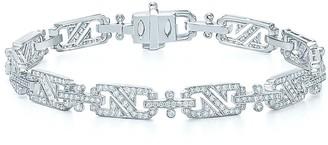 Kwiat 18kt white gold Splendor diamond rectangular link bracelet