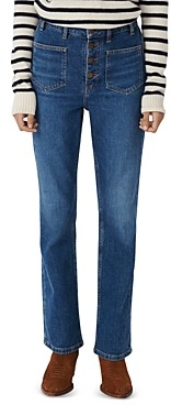 Maje Passion High Rise Jeans in Blue