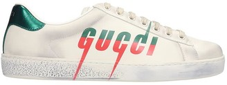 Gucci Ace Sneakers In White Leather