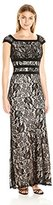 Sangria Women's All Over Lace Evening Gown