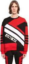 Kokon To Zai Geometric Patchwork Cotton Sweatshirt