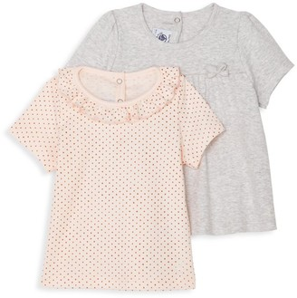 Petit Bateau Baby Girl's 2-Piece Polka-Dot T-Shirt Set