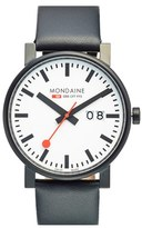 Mondaine Men's '(Evo)Lution - Sbb' Leather Strap Watch, 40Mm