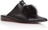 Tibi Sofie Feathered Flats