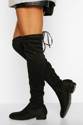 boohoo Petite Fit Over The Knee Boot