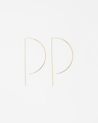 Peter Lang Arcadia Satin Gold Earrings - Limited Edition