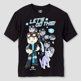 Tube Heroes Boys' Tube Heroes® Let's Do This Graphic Tee - Black
