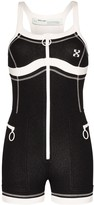 Off-White Off White Scuba surfer playsuit